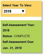 Self-Assessment Dashboard